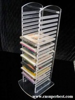 clear multi layer acrylic CD/DVD display rack