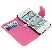 leather back case cover for apple iphone 4 4g