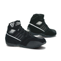 short footwear design, Velcro and strap motorcycle touring boots