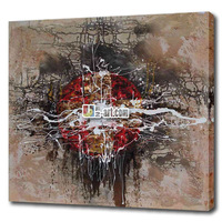 Paintings on canvas red black white home decoration Modern abstract Oil Painting wall art