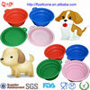 13cm Colorful Novelty Silicone Folding Pet Water Bowl