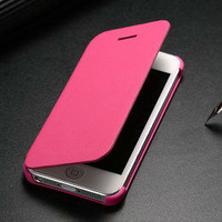 Wholesale superior quality fashion case for iphone 5g , book style leather case for iphone 5