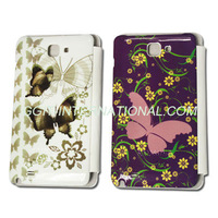 New Arrival Leather Flip Cover for Samsung N7000 Galaxy Note Flip Case