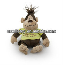 cartoon monkey plush monkey toy with clothes