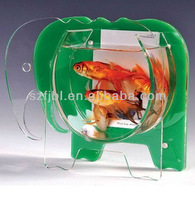 Acrylic Mini fish tank Bow Fluorescent Colors Ezy Clean Home and office use