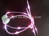 magic led shoelace in the dark low price high quality satin ribbon shoelaces
