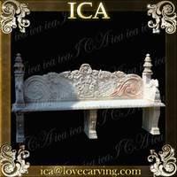 ICA,Decorative outdoor stone bench,garden bench 3,natural outdoor bench