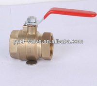 1 inch french brass ball valve