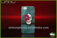 skeleton case for iphone 5,PC colorful printing case, mobile phone shell