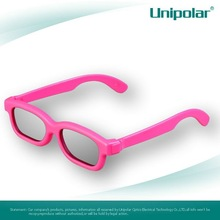 Pink and Red Color Frame Circular Polarized Recyclable plastic 3d glasses