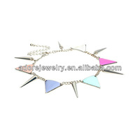 Fashion Colorful Punk Riveting Triangle Fancy Anklet