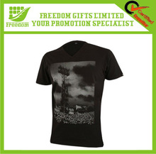 Branded OEM Black V-Neck T-shirts
