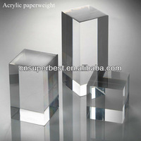 High transparent acrylic paperweight