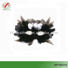 Small cheap feather masks for party