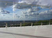 frameless glass fencing for building and swimming pool,balcony transparent fencing.tempered glass fencing
