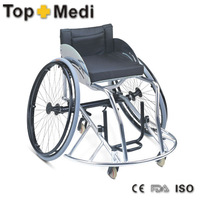 Aluminum frame Basketball forward Sports Wheel Chair with manual rear wheel Aluminum chair frame high back reclining wheelchair