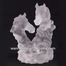 crystal ashtray -liuli ashtray crafts,horse scuplture crafts