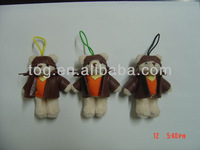 Plush Toy Manufacturer 8cm Plush Pilot with hoop