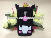 Lovely pig silicone soft case For samsung galaxy s4 mini i9190