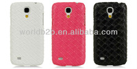 Carbon Leather Skin Rubber Coating PC Cell Phone Cover For Samsung Galaxy S4 Mini I9190