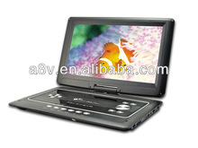 17years manufactory price 7inch to 17.8 inch portable dvd player double player