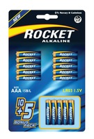 LR03, AAA size, 10+5 Blister packing, Alkaline