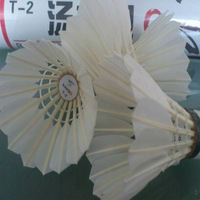 top grade manufacture best quality goose feather badminton shuttlecock are very hot sale in the market