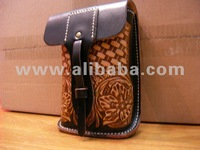 Cowboy Style Hand Made Leather Waist Pouch