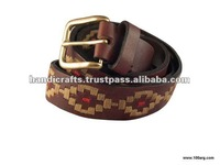 LEATHER GENUINE FULL EMBROIDERY BELT
