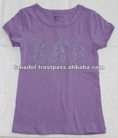 Summer Children wear girls t-shirt band logo stamp on chest 2012