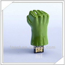 2013 newest Movies character Avengers Green giant big fist USB 4GB, The Avengers pen usb drive, fist flash usb