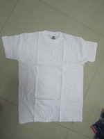 white color 100%cotton men t shirt