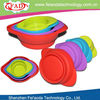 Eco Unique Design FDA Approved Shenzhen Factory Silicone Travel Camping Pet Food Bowl