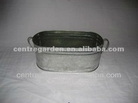 Raw material galvanized metal oval bucket for hacienda