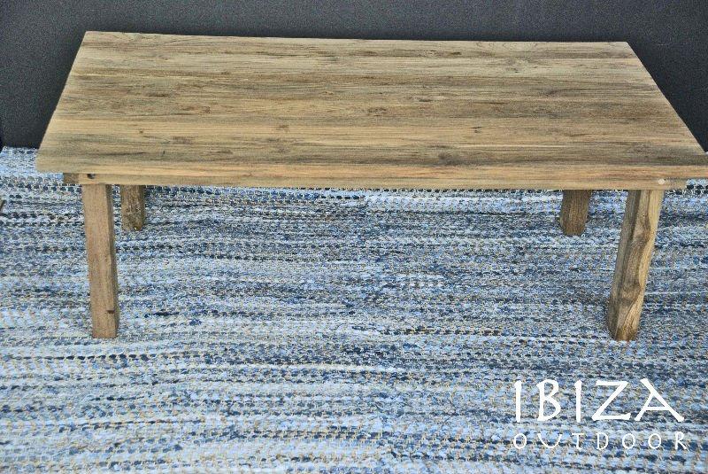 Rustique teck bois jardin table basse autres meubles en - Table en bois rustique ...