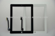 Touch Screen Digitizer Front Glass Replacement For Apple tablet iPad 4 color Black and White