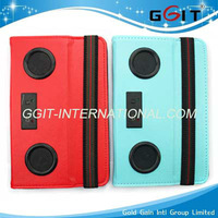 Hot Sell Leather Case with Speaker For iPad Mini Case With Speaker