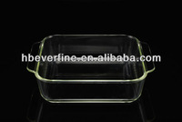"10"" Square Clear Glass Tray"