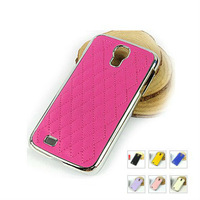 Deluxe Luxury Chrome Plastic Leather Skin Case for Samsung Galaxy S 4 IV i9500