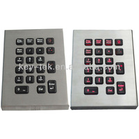 21 keys Transparent vandal proof waterproof IP65 backlit (dynamic) industrial & military keypad