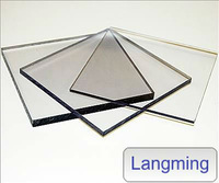 sound barrier polycarbonate plastic sheet with new makrolon resin