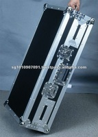 DJ player mixer cases with handles and wheels