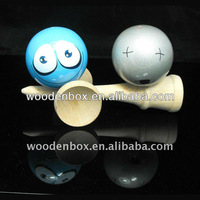 Funny face kendama toy for Christmas decoration
