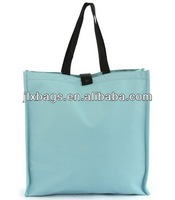 promotional foldable shopping bag polyester with inside zip pocket