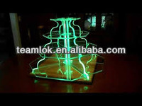 2014 modern design acrylic cake stands with lights