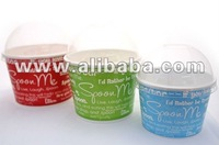 Eco-friendly Paper 16oz Yogurt Cup