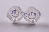 Plastic transparent box CPK-M-3816 for jewelry ring coins