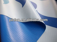 waterproof PVC tarpaulin 1000D 100% polyester fabric