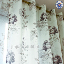 Z luxury style printed voile curtain fabric office furniture curtain