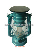 235 LIGHT BLUE COLUMN TYPE SOLAR POWER LED LANTERN